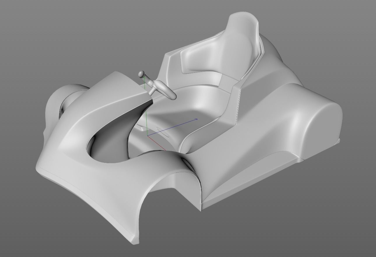 Electric sports car for 3D print