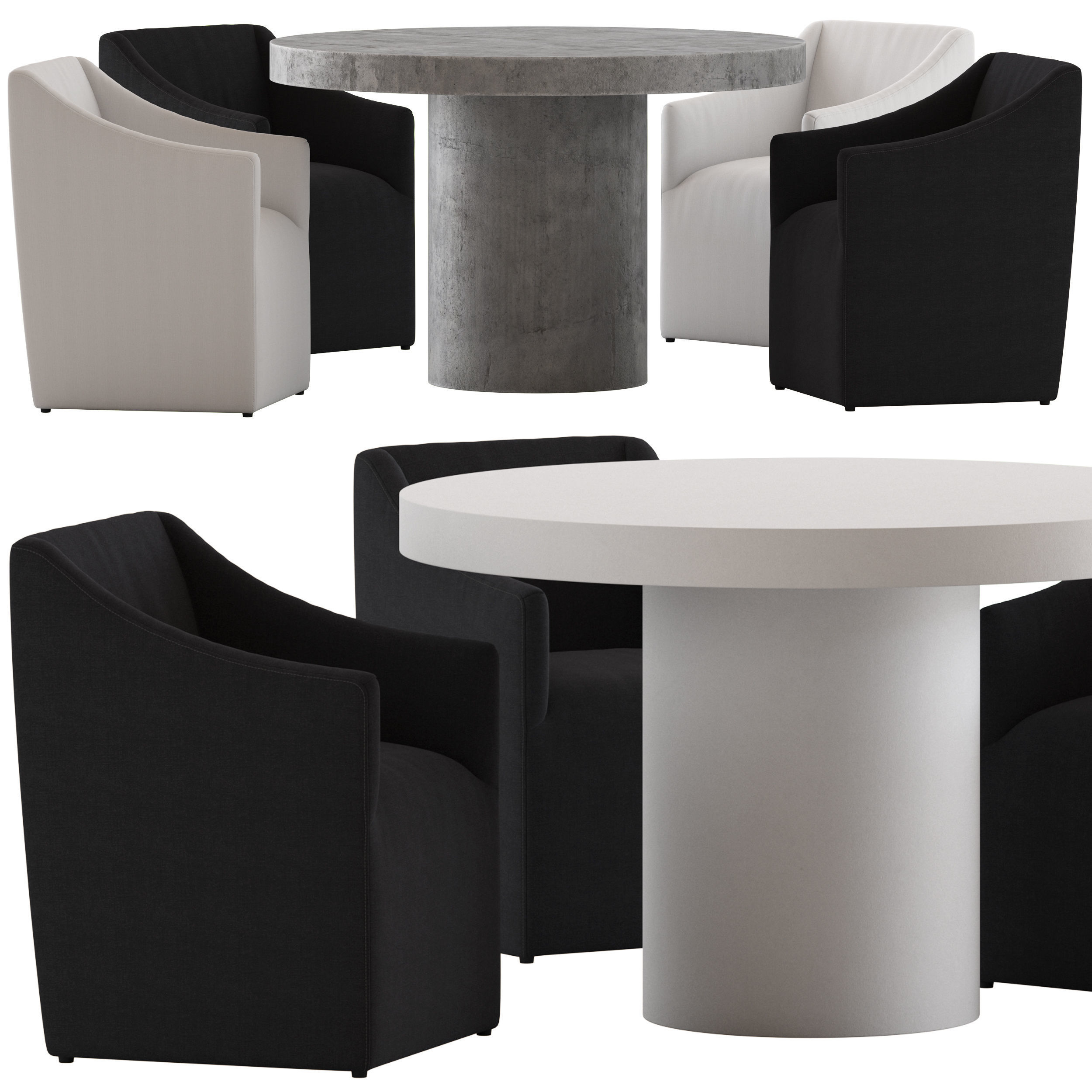 3d Model Coco Republic Avalon Dining Chair And Regent