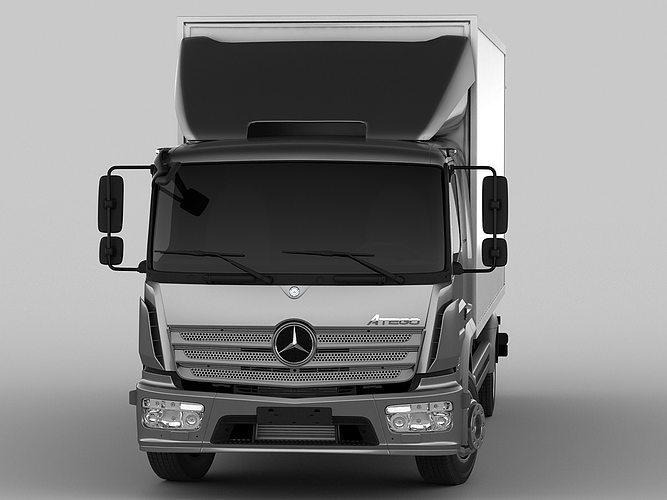 mercedes atego 2014 long 3d model max obj 3ds fbx c4d lwo lw lws 11