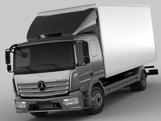mercedes atego 2014 long 3d model max obj 3ds fbx c4d lwo lw lws 1