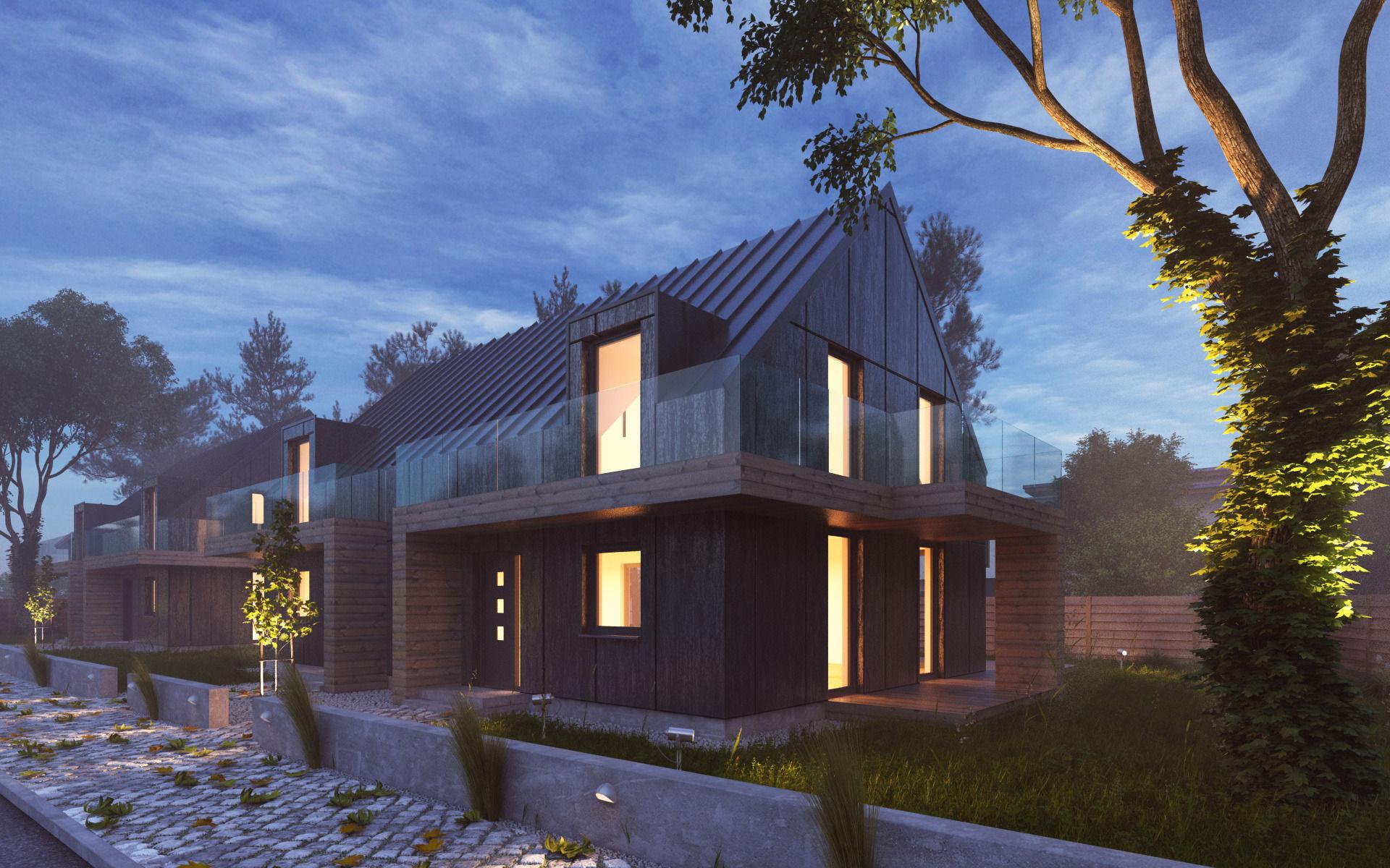 Scene rendering modern house ar 3d model max obj 3ds fbx c4d dwg 2