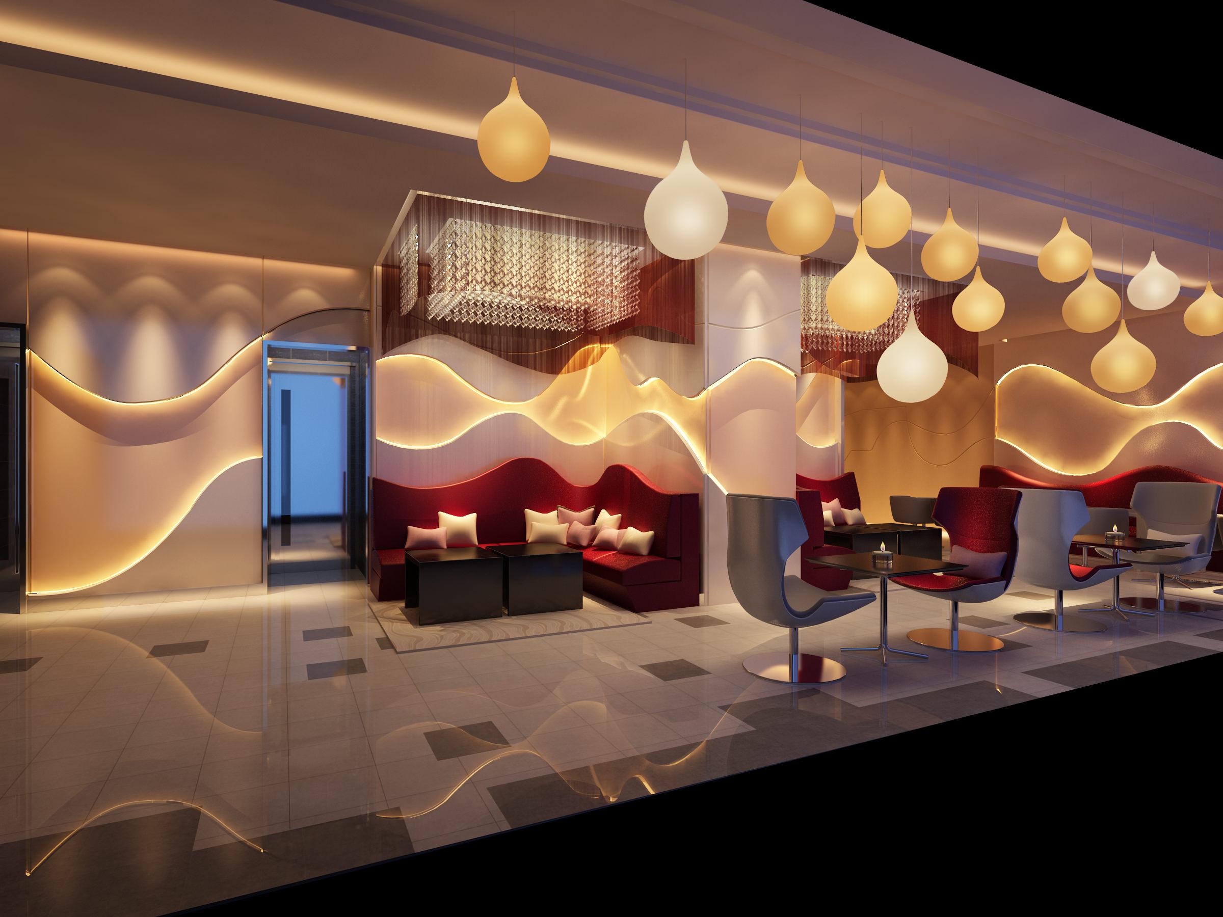 ritzy cafe interior 3d model max 1 - 3d Max Interior Design Models
