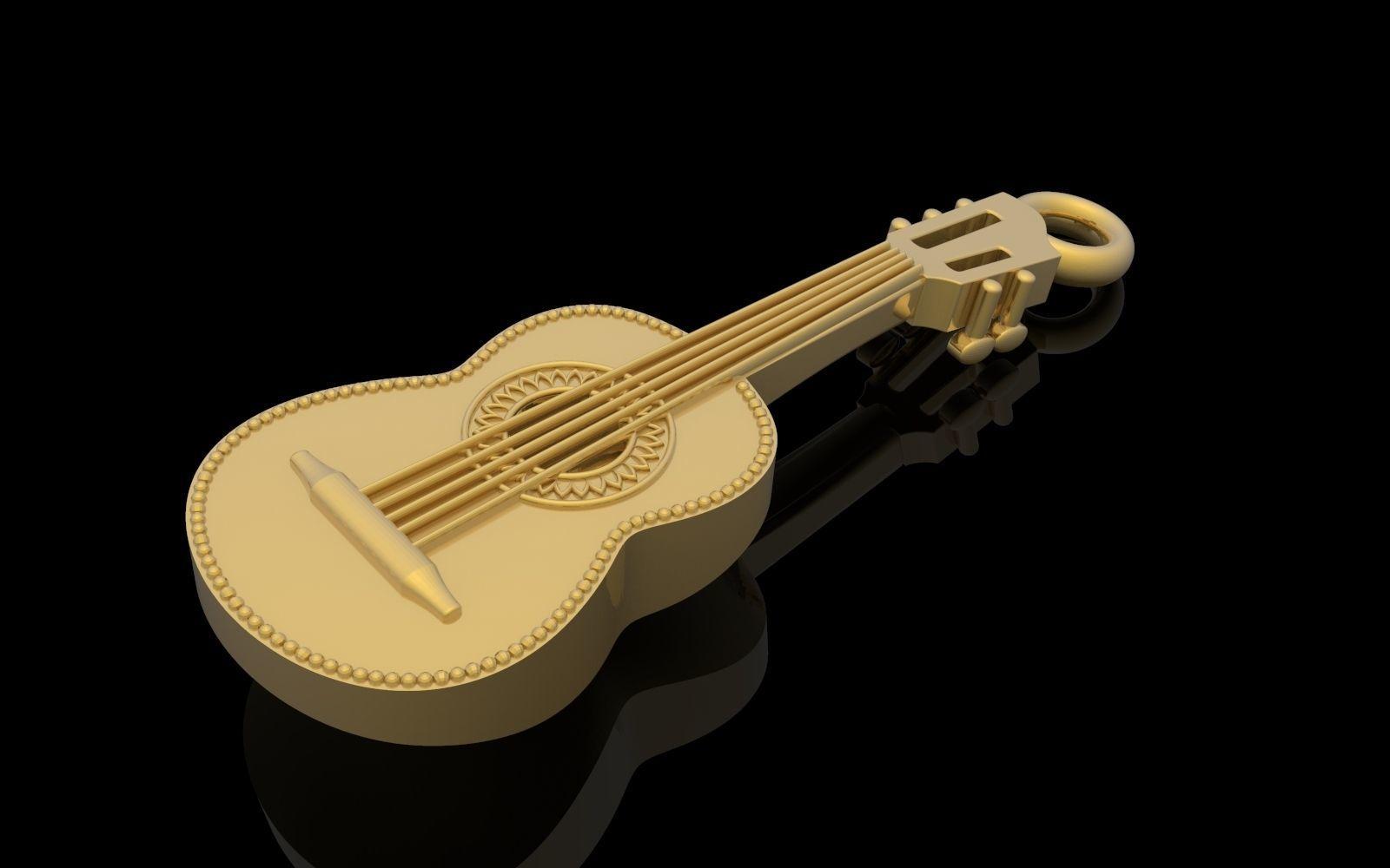 Guitar pendant music jewelry