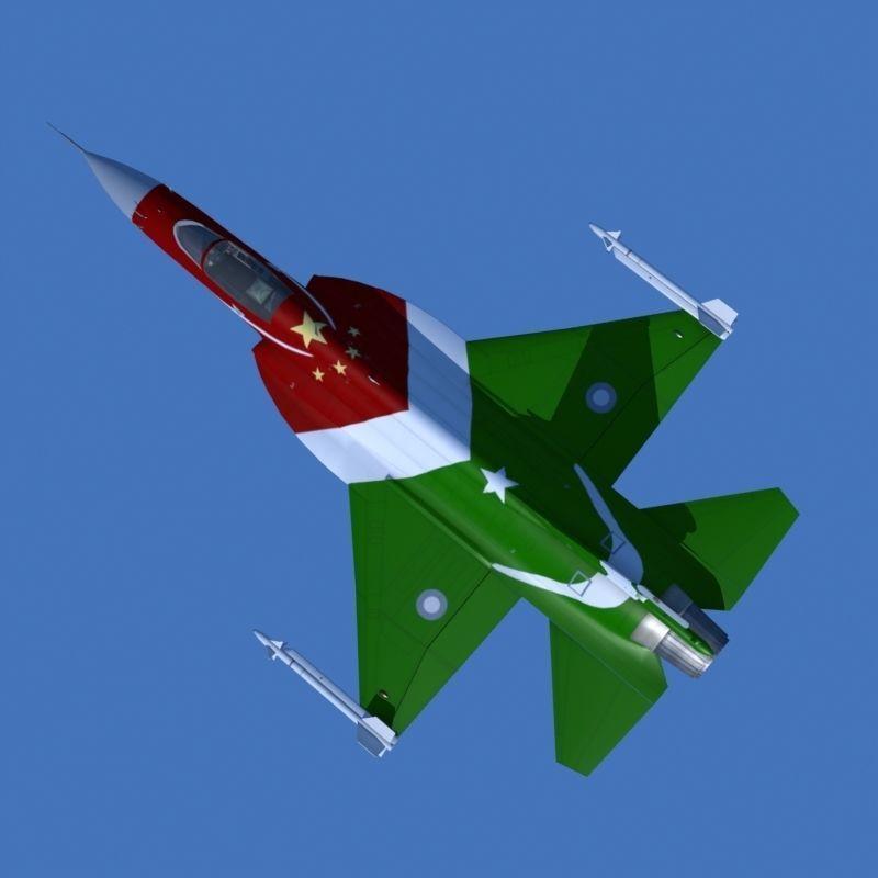 JF-17 Thunder Low polygon Display version