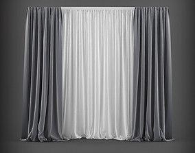Curtain 3D model 1