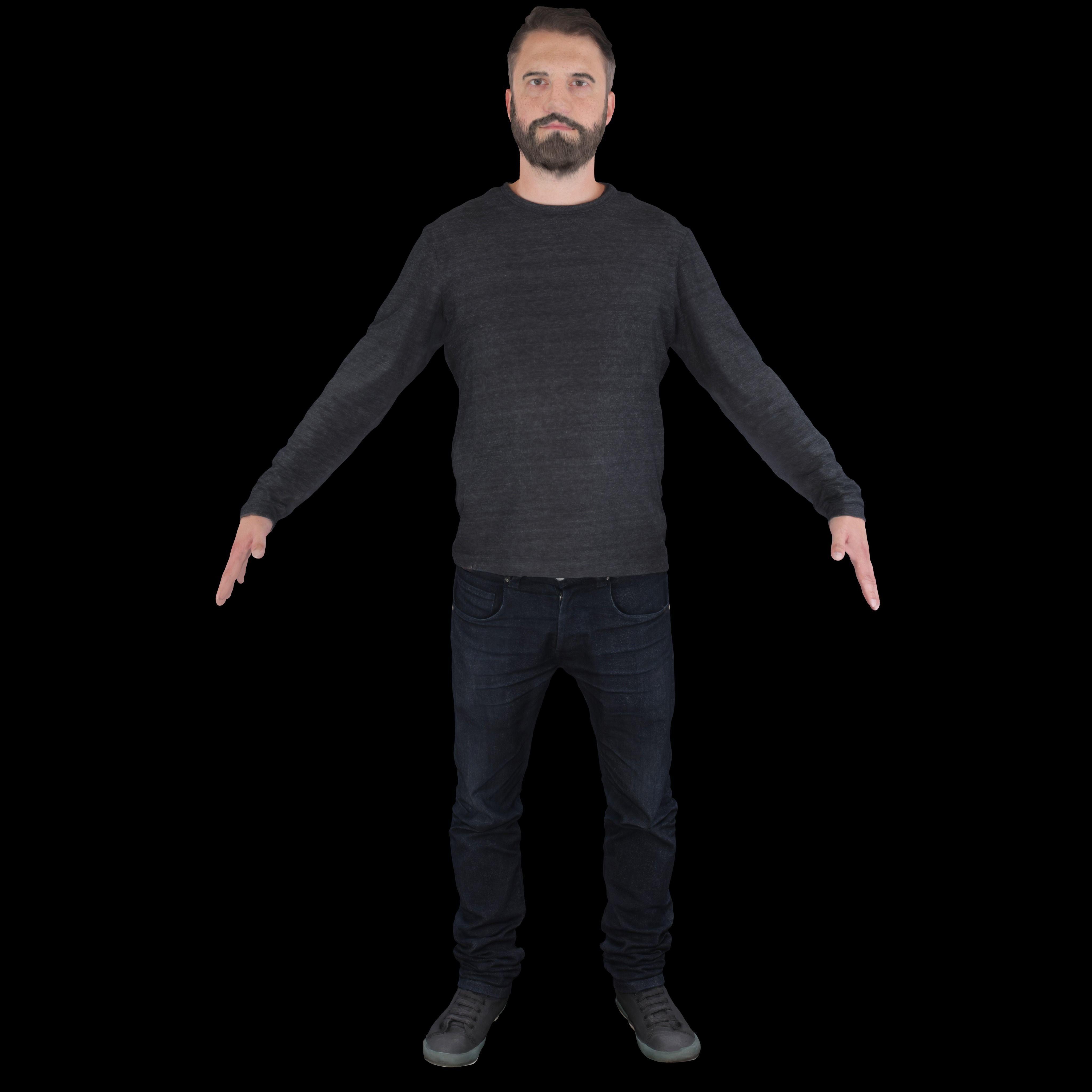 No429 - Male T Pose