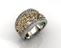 3D printable model gems Ring