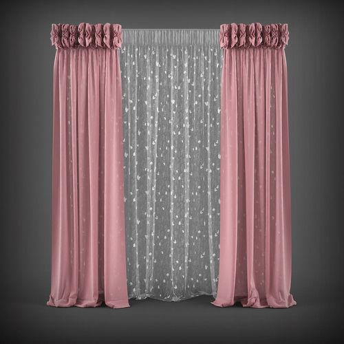 Curtain 3D model 7