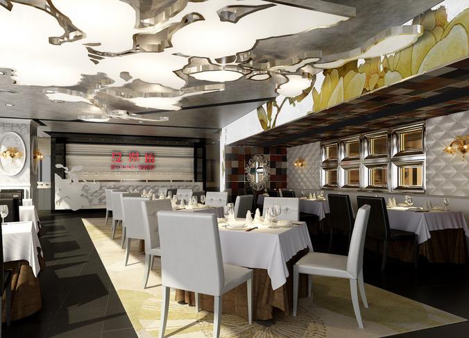restaurant 3d model max 1