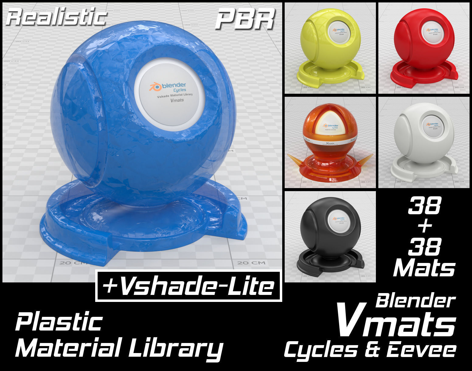 VMATS Plastic Material Library for Blender Cycles and Eevee