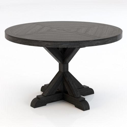 Restoration Hardware Salvaged Wood X Base Dining Table 3D Model