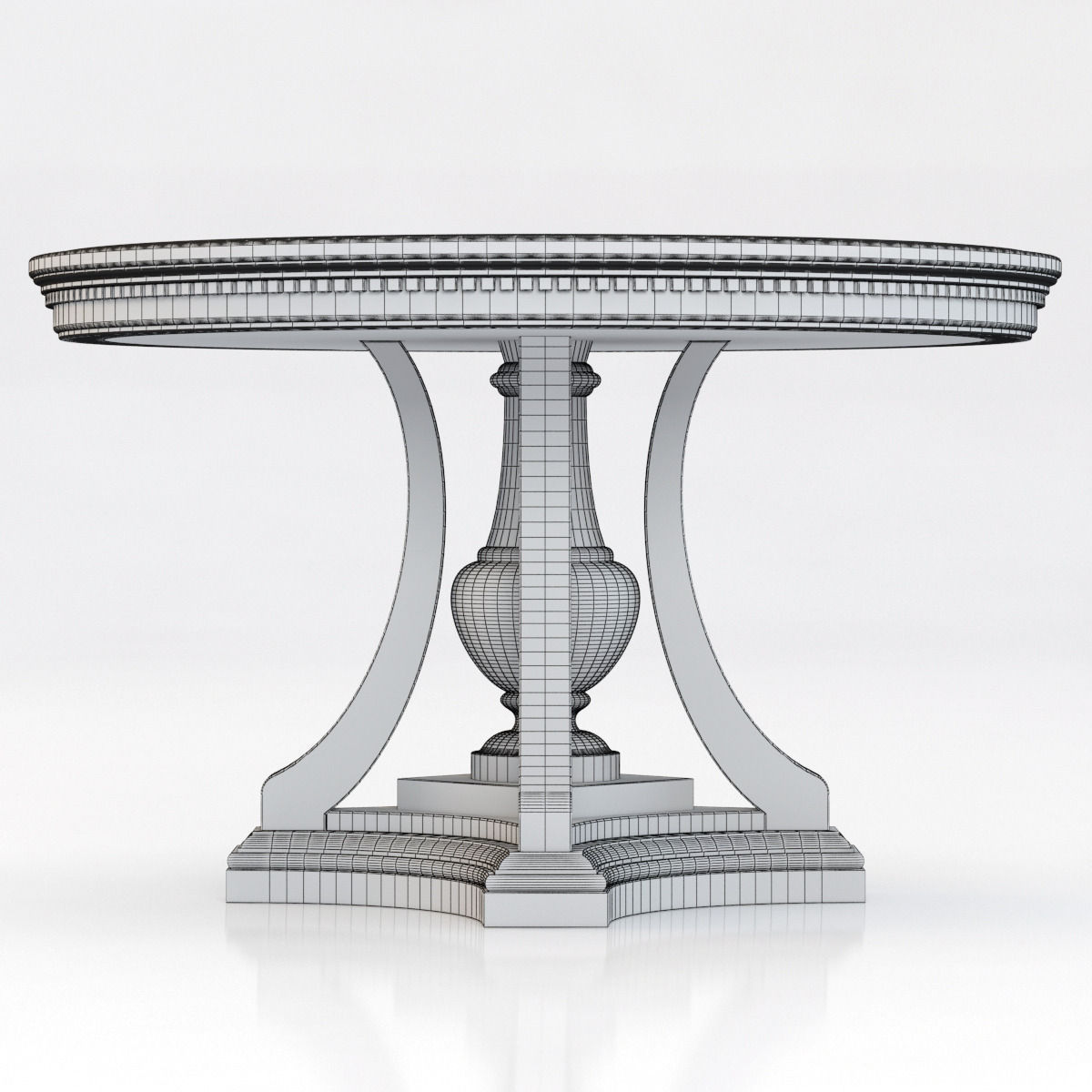 ... Restoration Hardware St James Round Dining Table 3d Model Max Obj 3ds  Fbx Mtl 7 ...