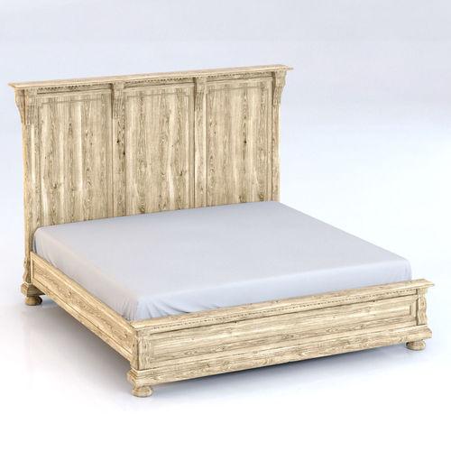 restoration hardware st james king bed without footboard 3d model max 1