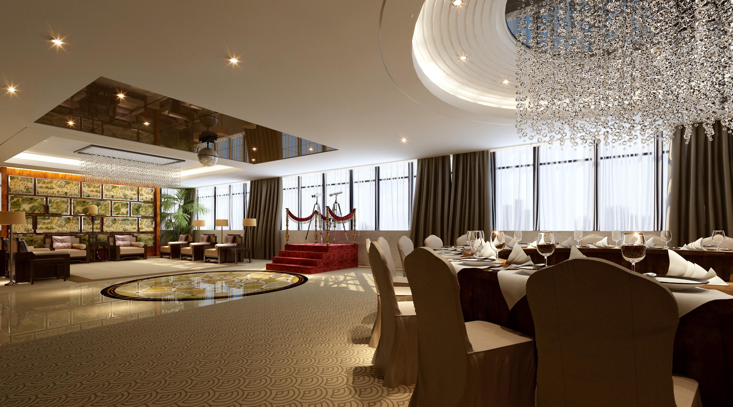 3D model Banquet hall dining
