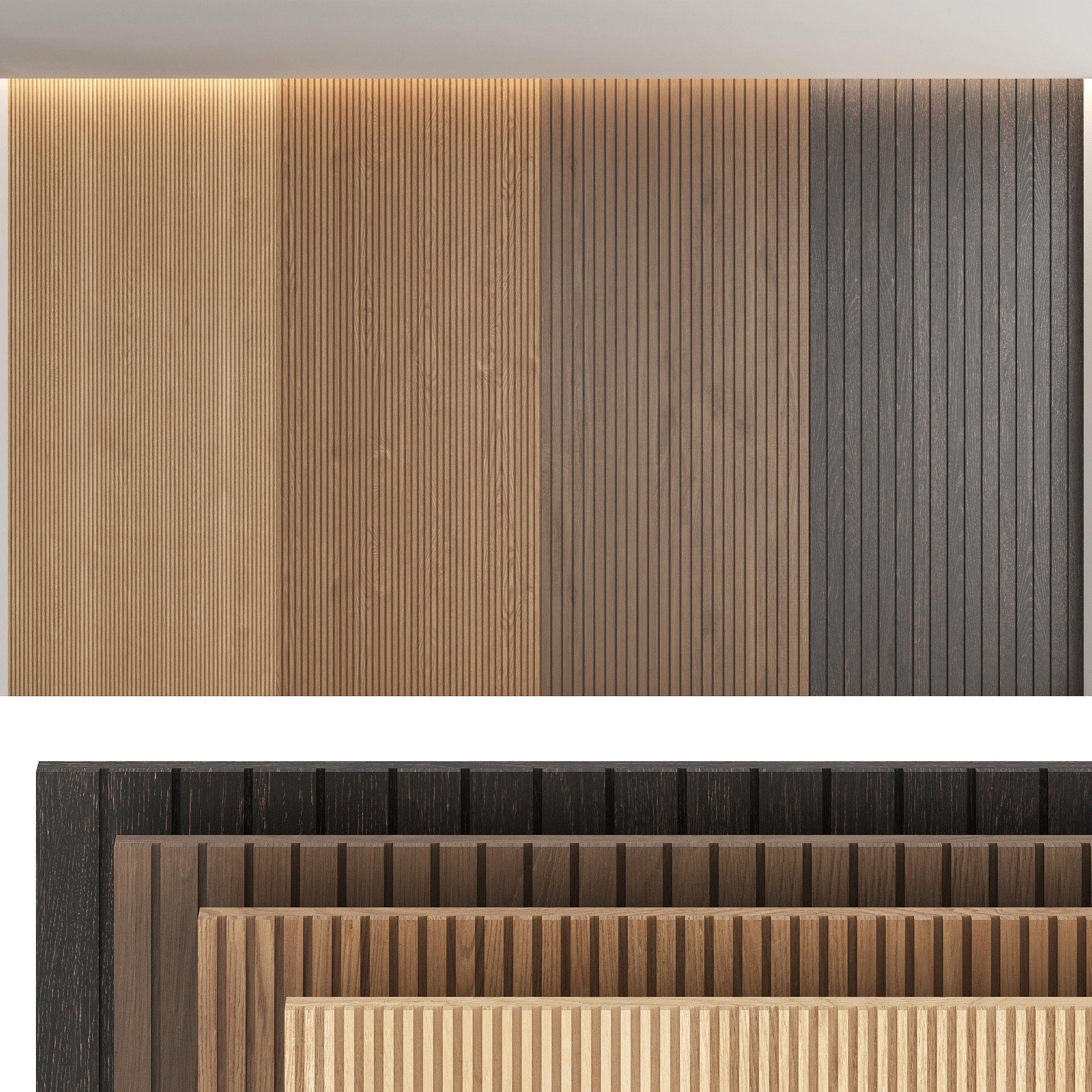 Wood panels set4