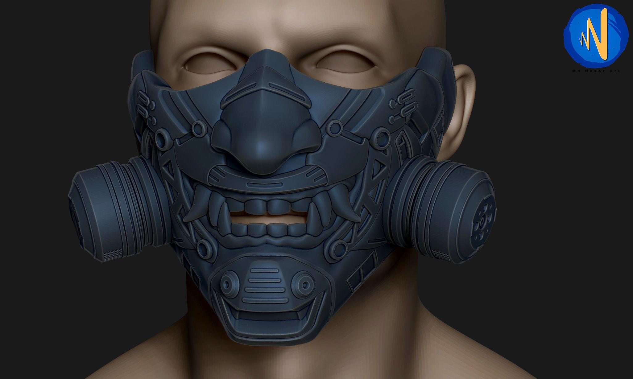 Ballistic Tactical Face Mask 3D printable model   CGTrader