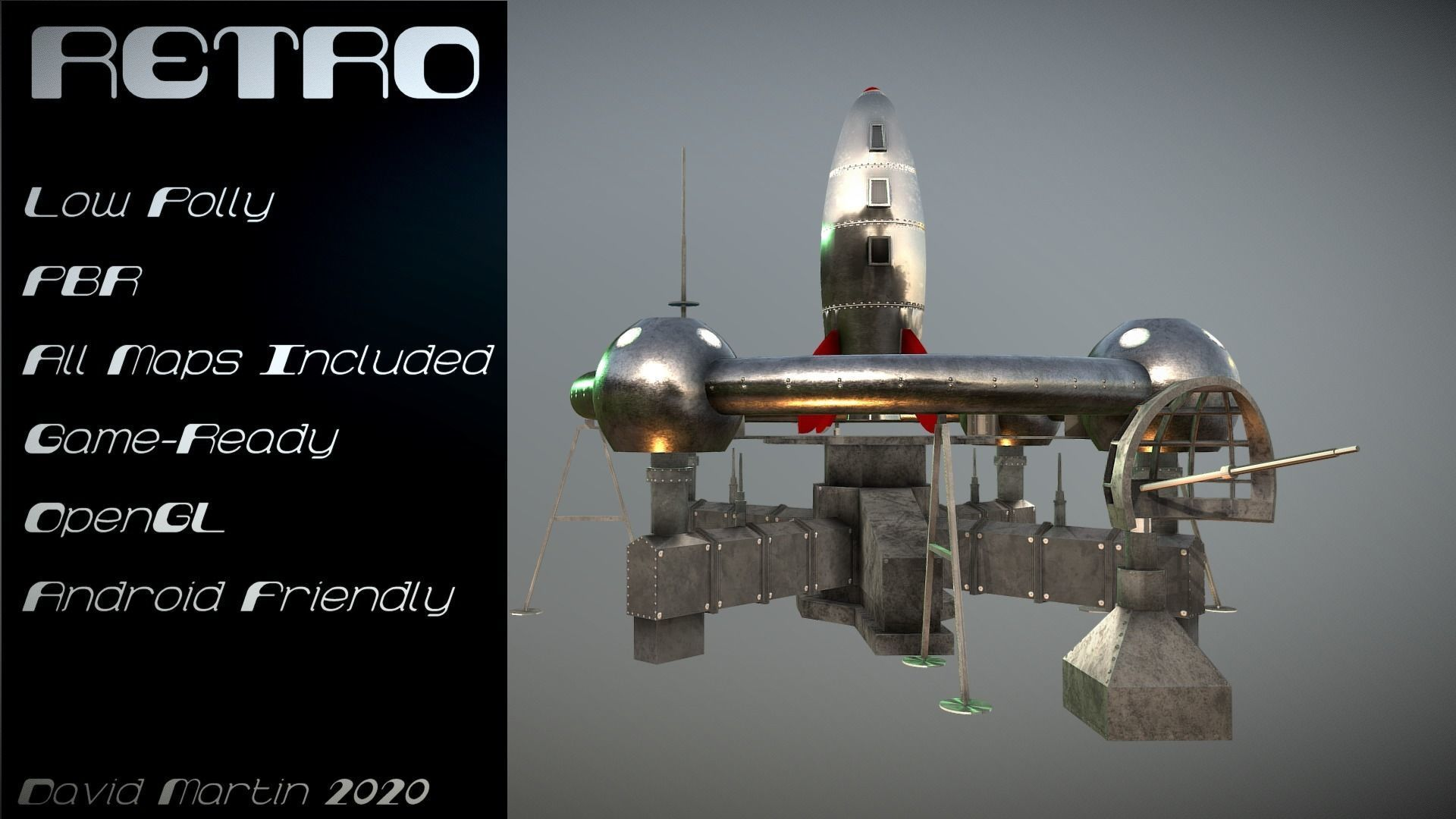 Retro Sci-Fi Moonbase