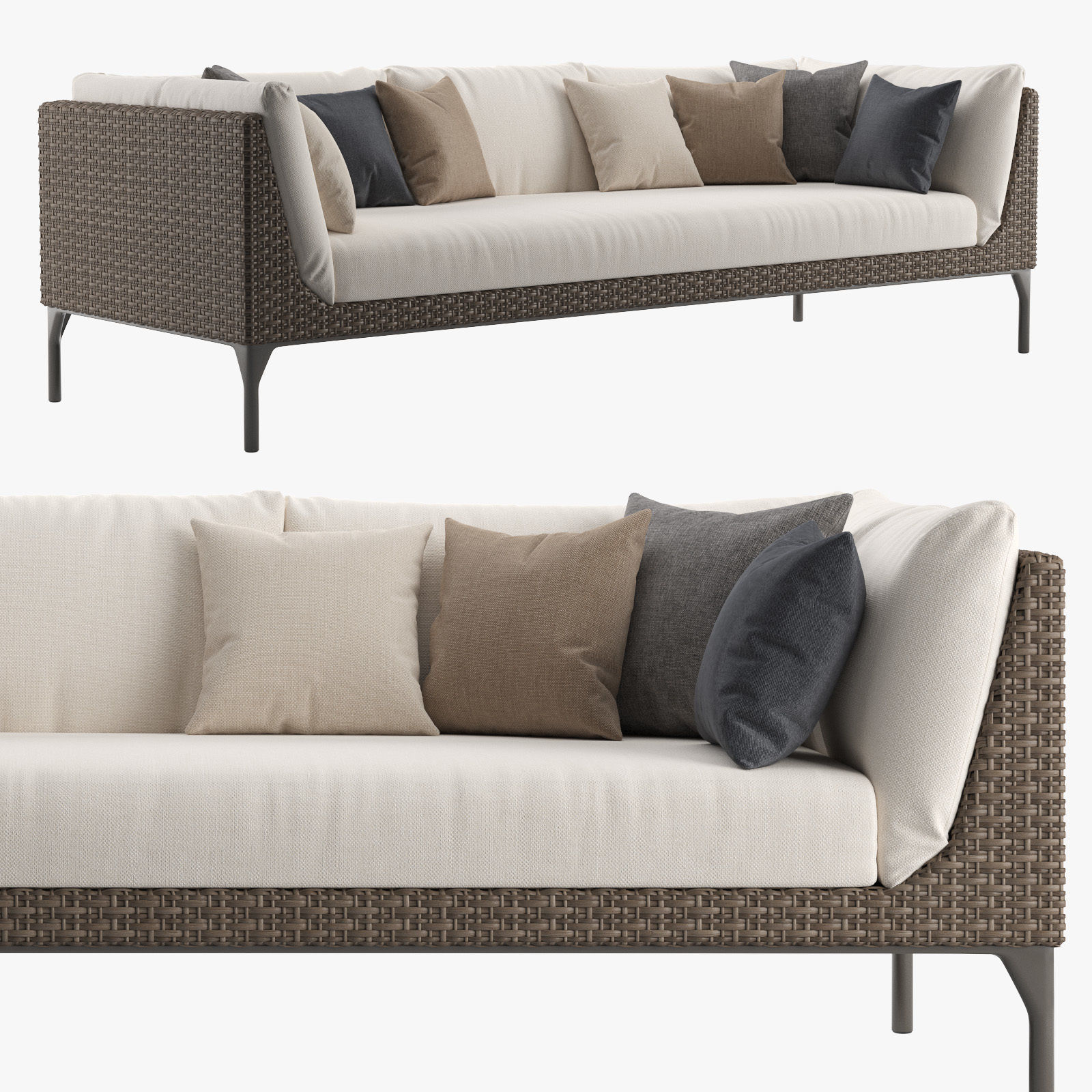 Dedon MU 4-seater sofa outdoor