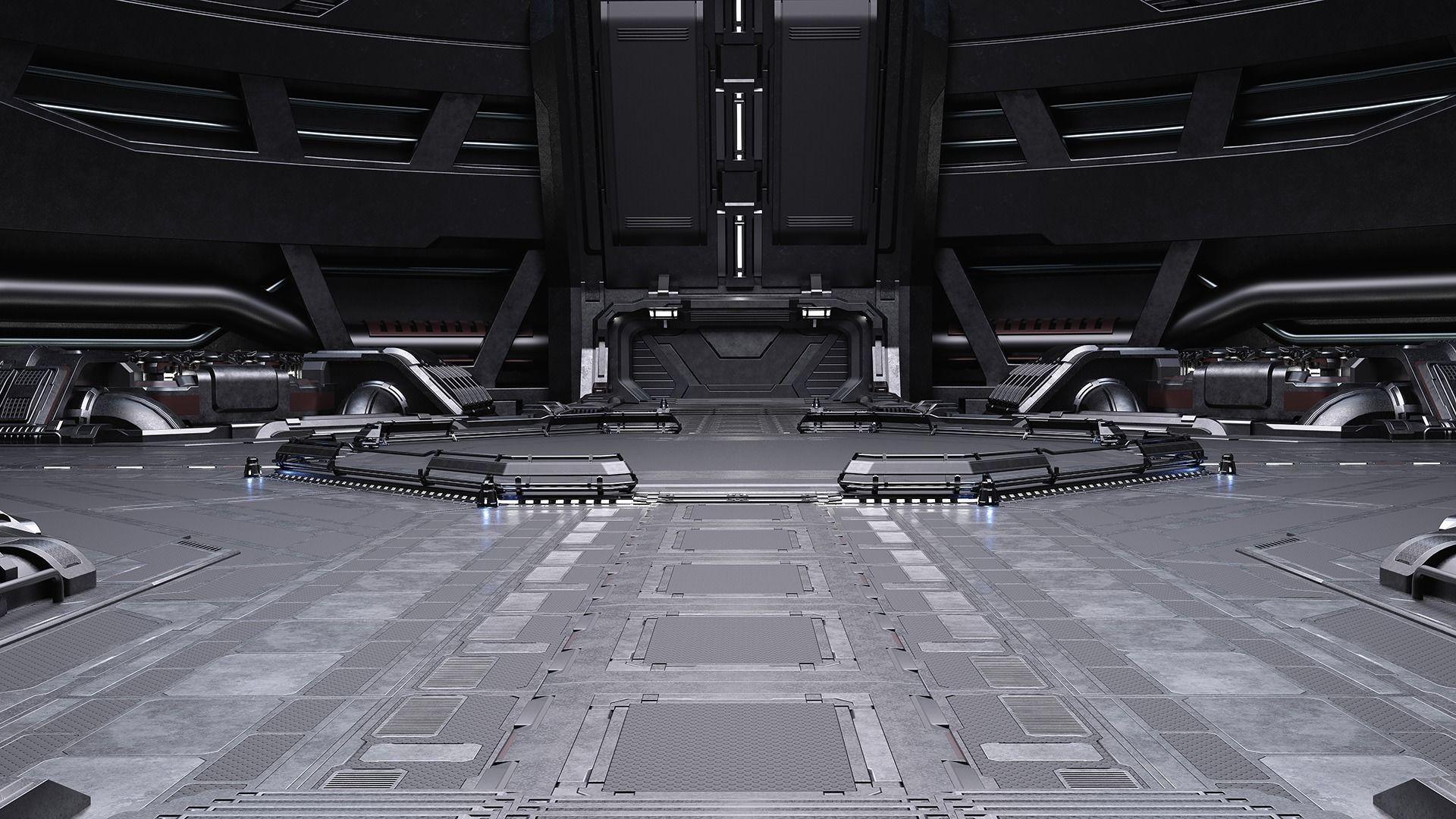 Sci-fi Scene for renders Time Travel