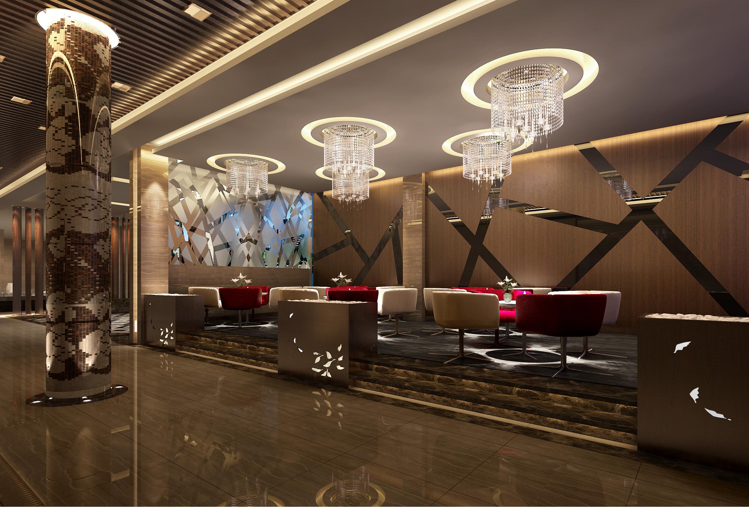 3D Interior Bar