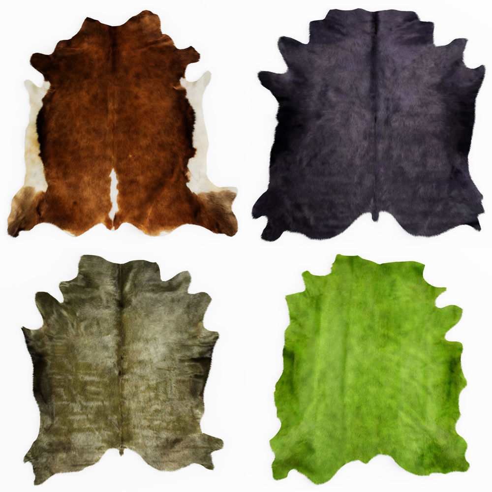 Four rugs from animal skins 06