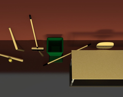 3d model school objects