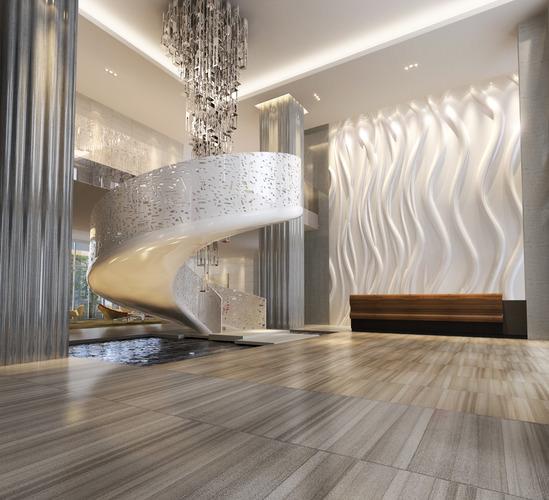 hall lobby 3d model max fbx 1