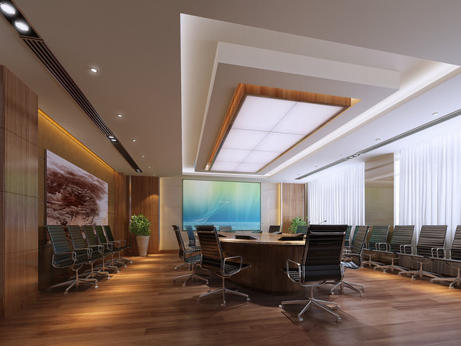 conference room 3d model max 1