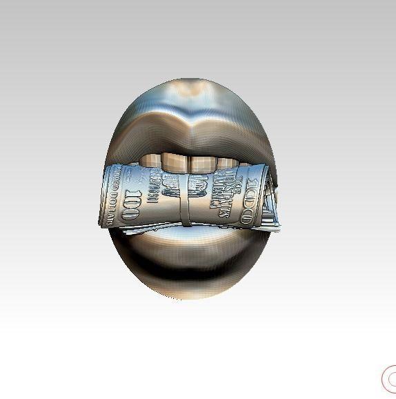 Million Hundred Thousand Dollar Lady Mouth Money roll lip