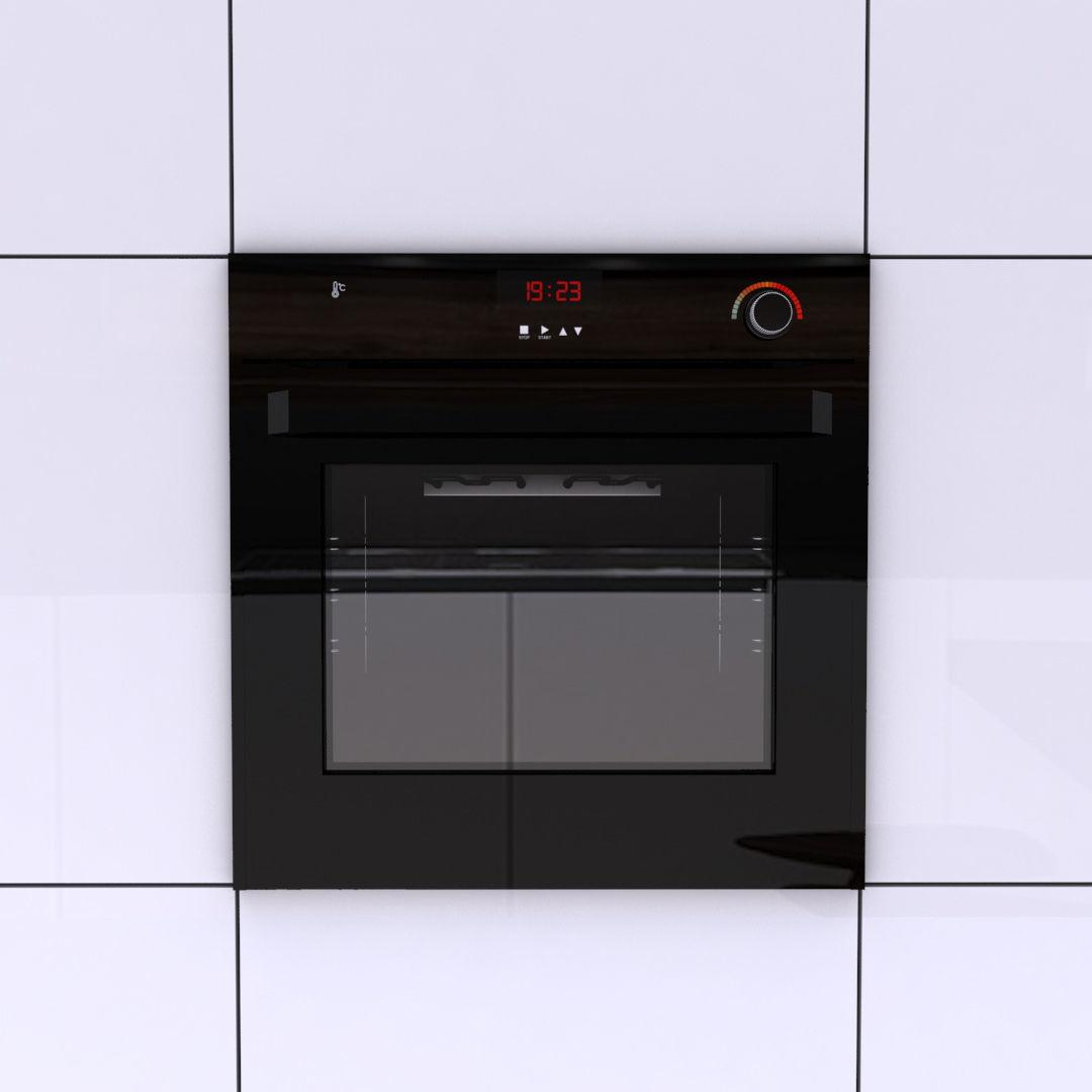 Black Wall Oven 3D Model