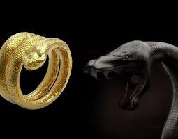 animals Snake Ring 3D print model