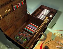 artist suitcase 3d