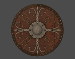 3D model Ornamented shield