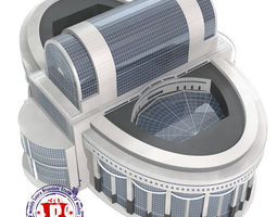 European Parliament 3D model
