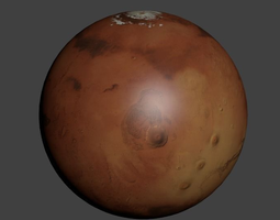 3d model planet mars 8k