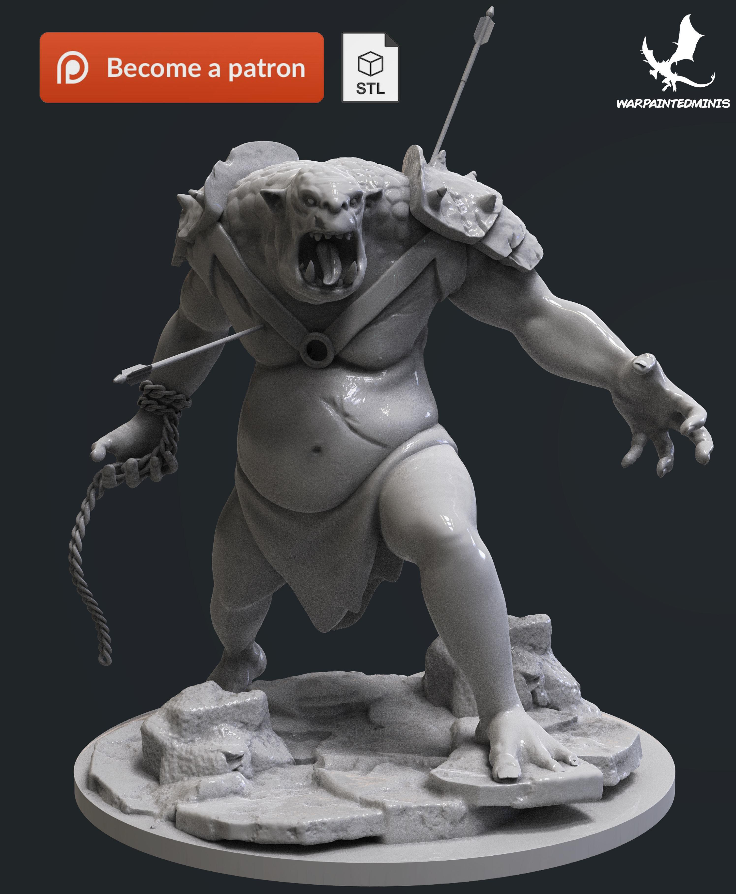 Troll 3D Print Model STL