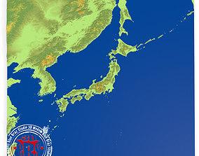Japan elevation 3D model