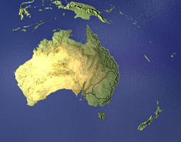 Australia and New Zealand 3D