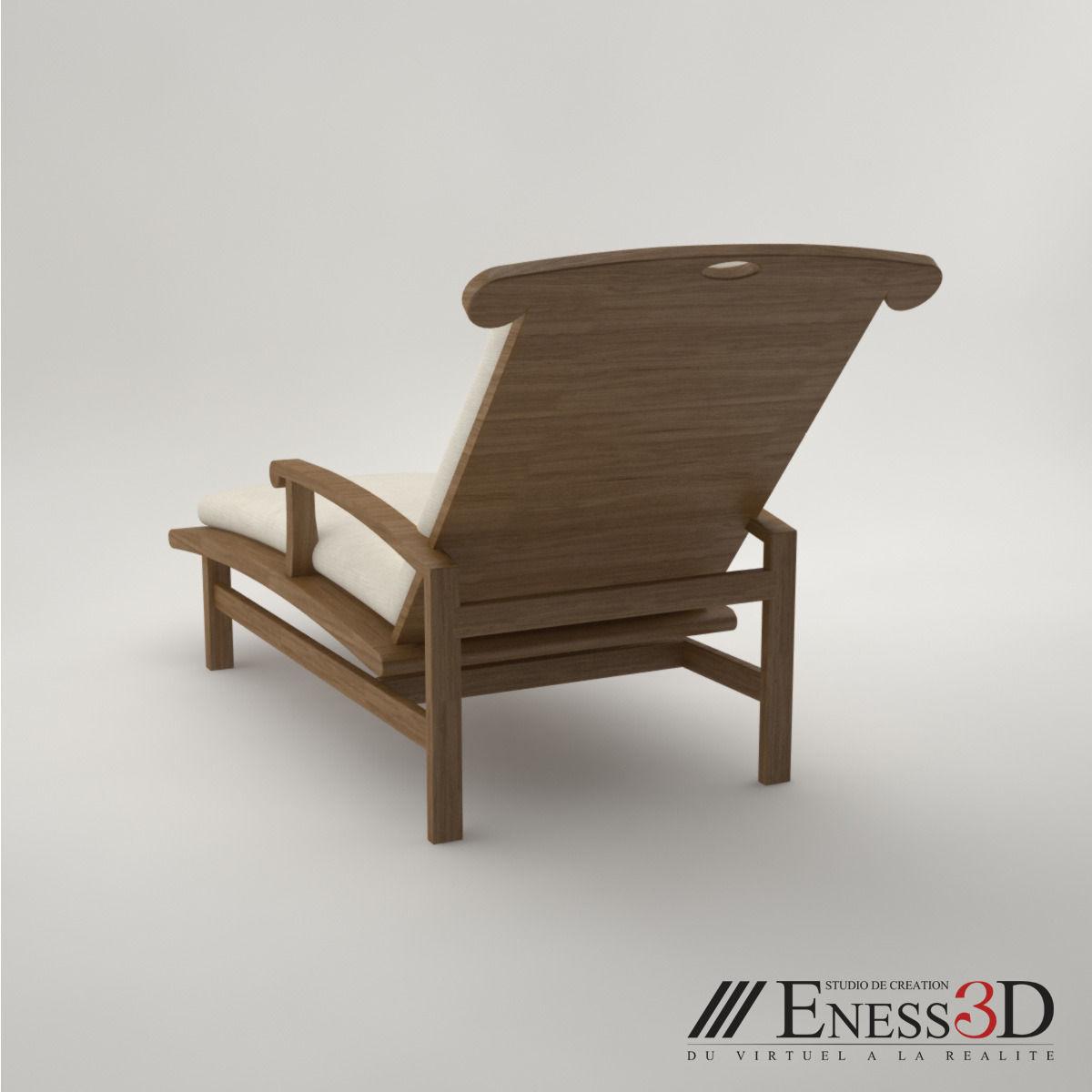 pro  lounge long chair fc d model max obj  . pro  lounge long chair fc d  cgtrader