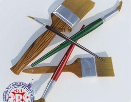 paintbrushes 3D model