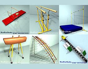 3D model gimnastic equipment collection