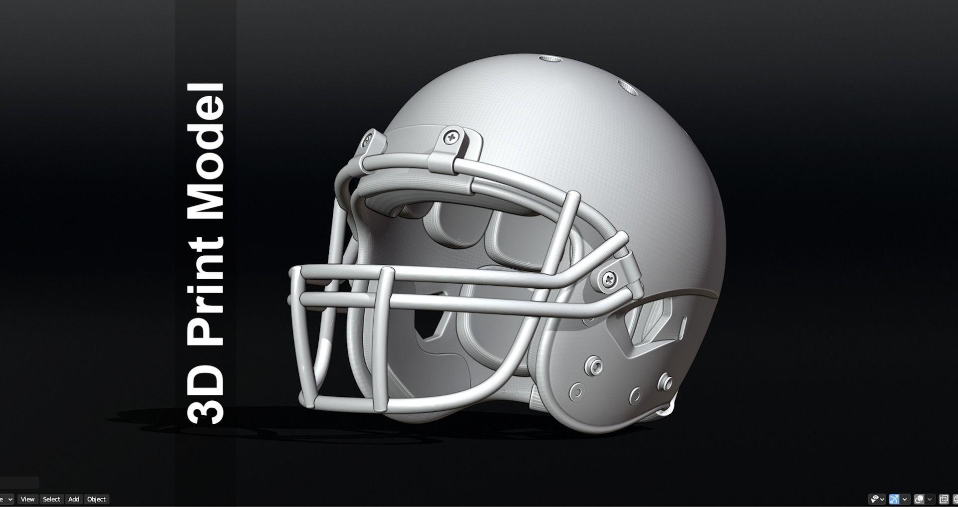 Contemporary Football Helmet