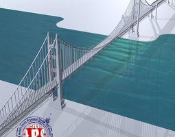 ocean bridge 3D model