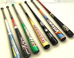 baseball bat collection 3D Model