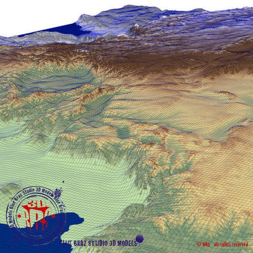 China Elevation Map D Model CGTrader - Elevation map