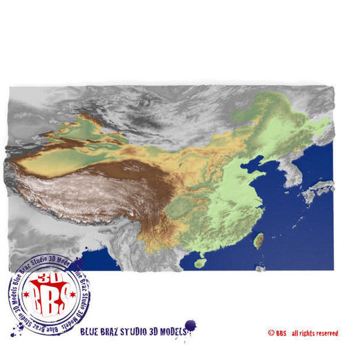China elevation map 3d model cgtrader china elevation map 3d model gumiabroncs