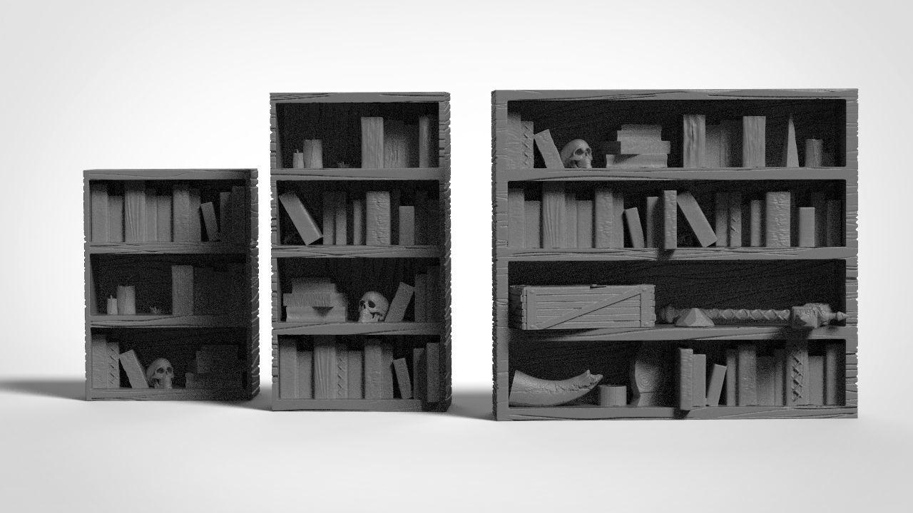 Fantasy Bookshelves for dungeons