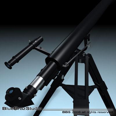celestron telescopio 3d model 3ds dxf 1