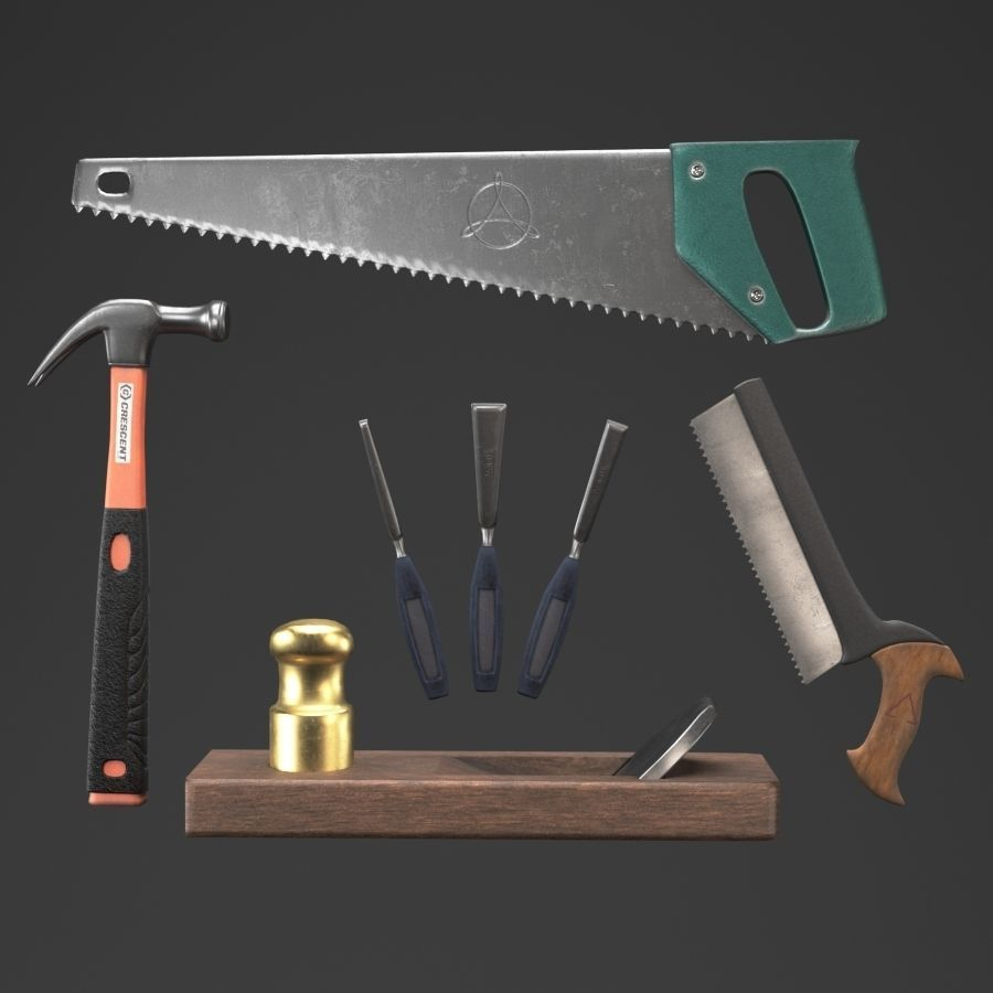 Carpentry tools With a fancy bloody fancy texture for the game