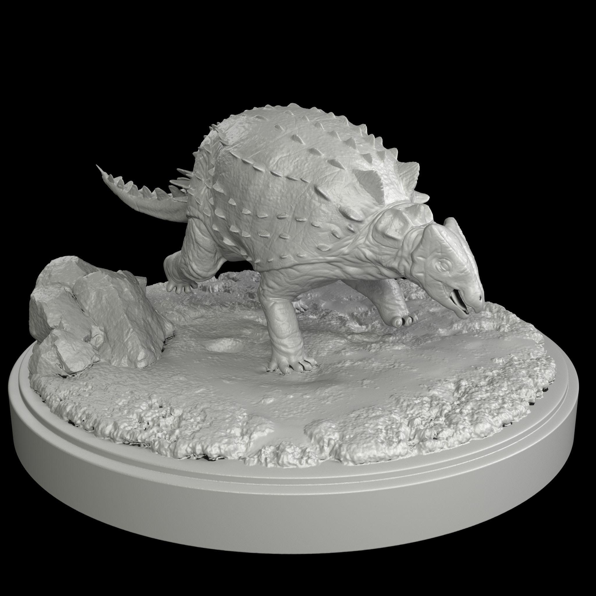 Ankylosaurus  Dinosaur   3D Print Model